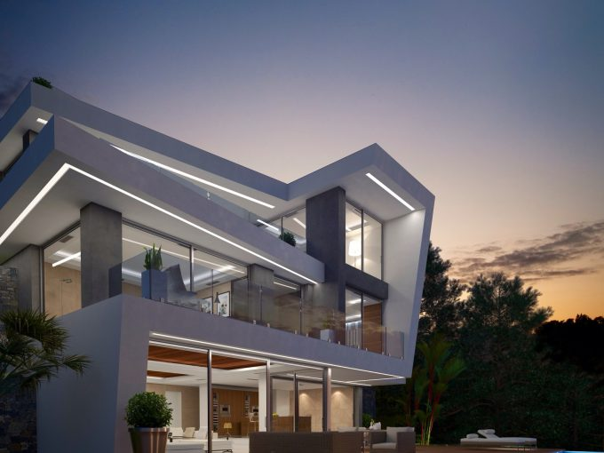 First line villa at Granadella, Javea