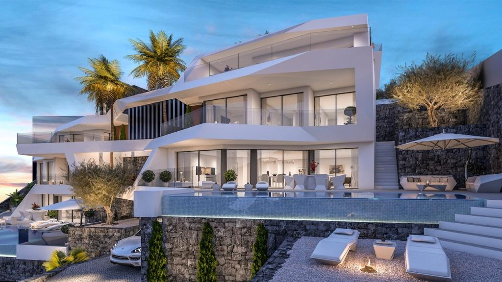 Project of 4 luxury villas in Mascarat