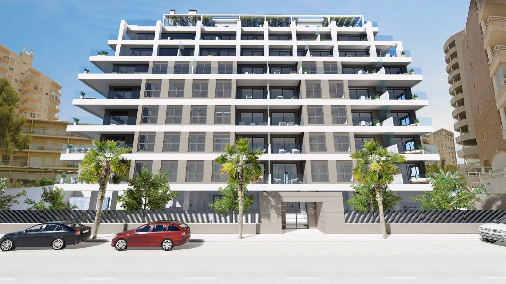 Newbuild apartments at the harbour in Calpe