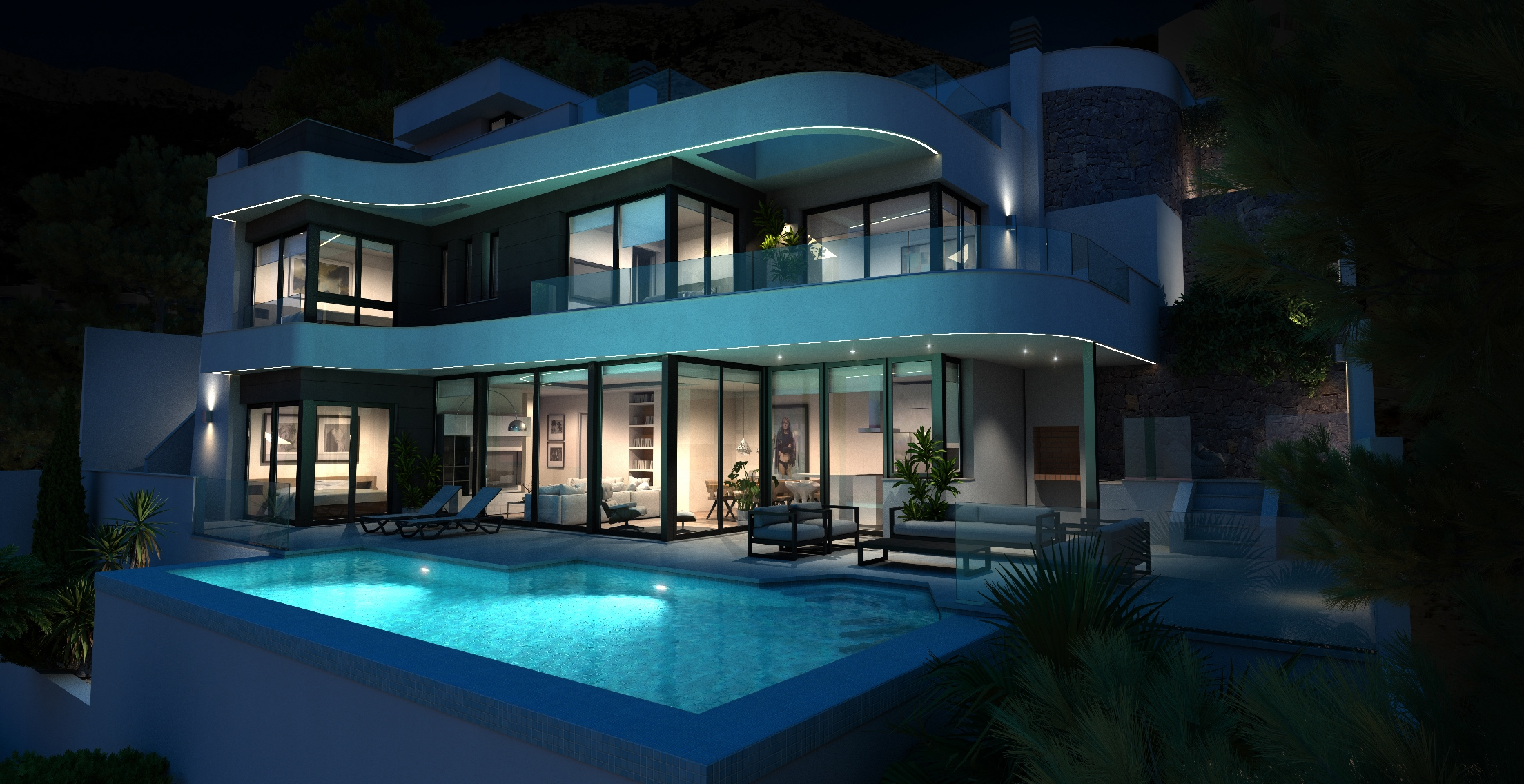 Villa with panoramic Seaview, Altea Hills