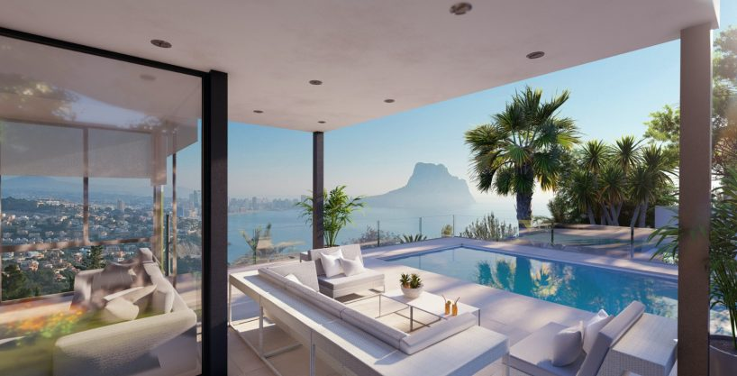 New build villa with panoramic sea view in Calpe