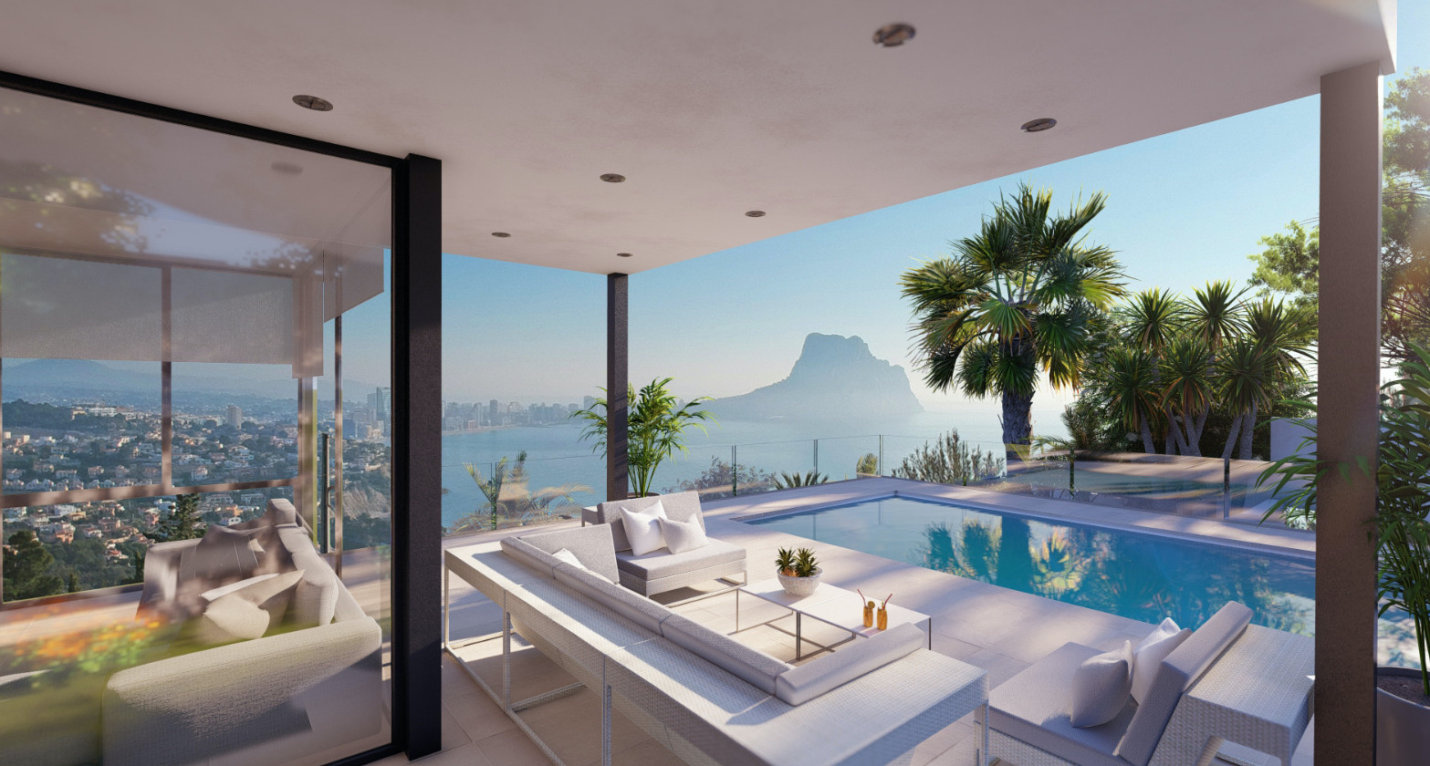 New build villa with panoramic sea views in Calpe