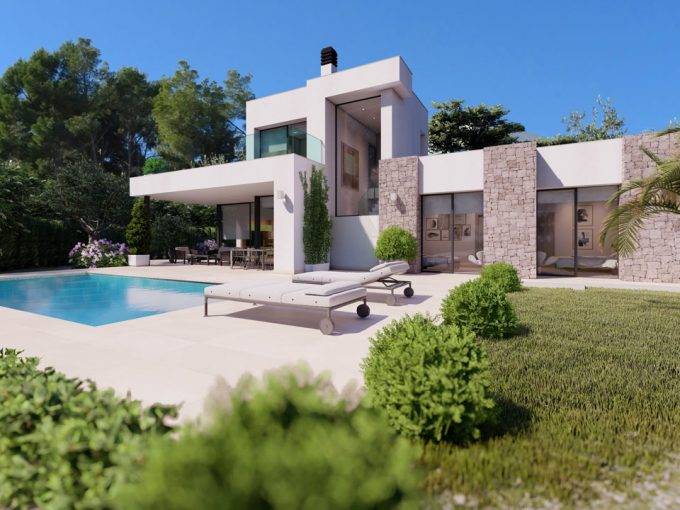 All on one level villa in La Fustera