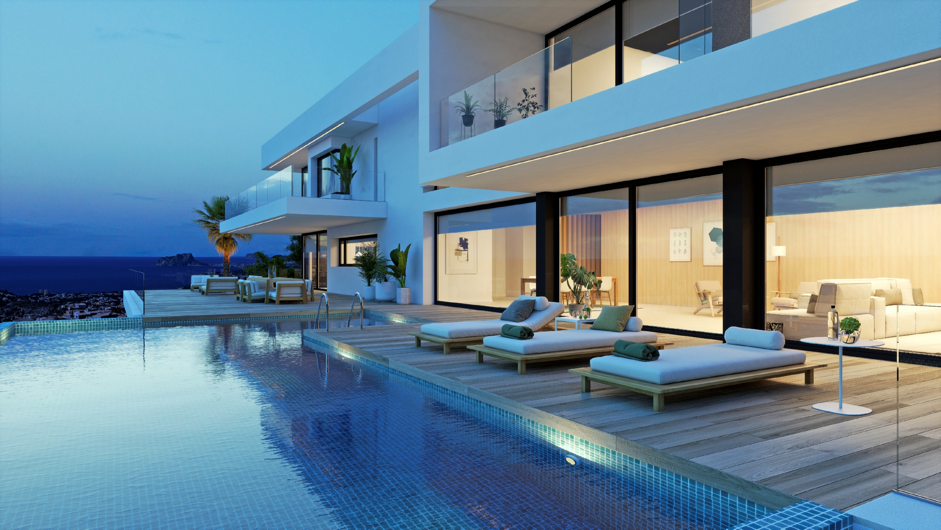 Exclusive property with panoramic sea views