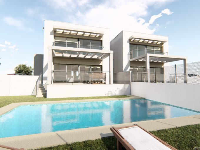These newbuild semi-detached houses in Moraira
