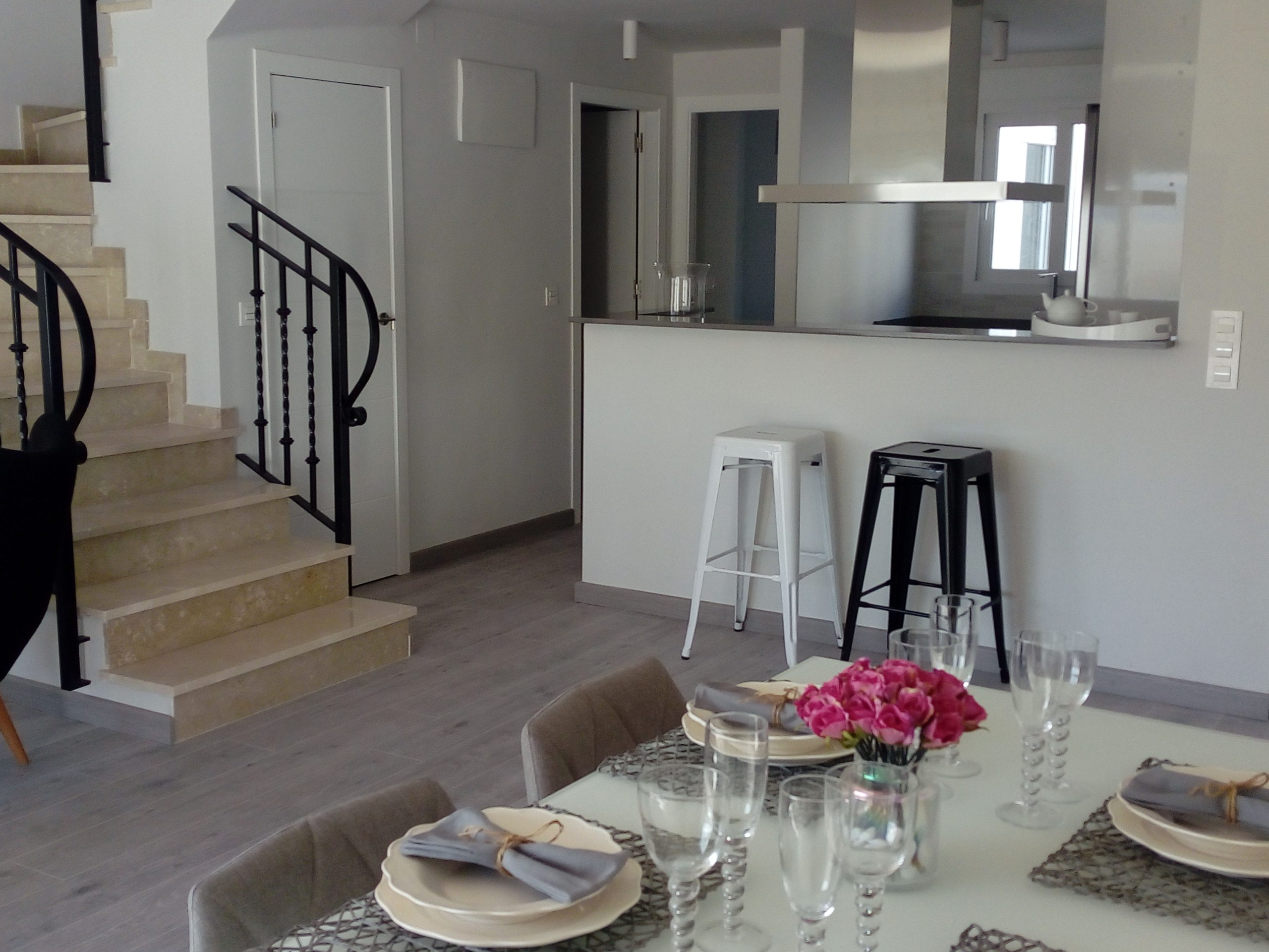 Townhouses at walking distance from the beach