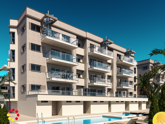 Apartments at walking distance (300m) from the beach