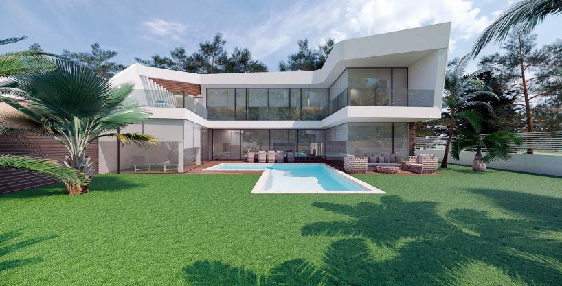 New build villa at 300m from the beach in Altea