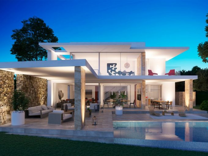 Ultra modern villa under construction in Moraira