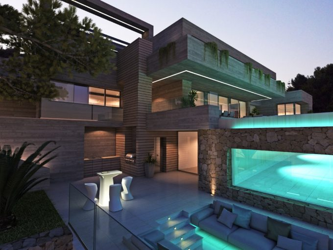 Spectacular new build with panoramic sea views