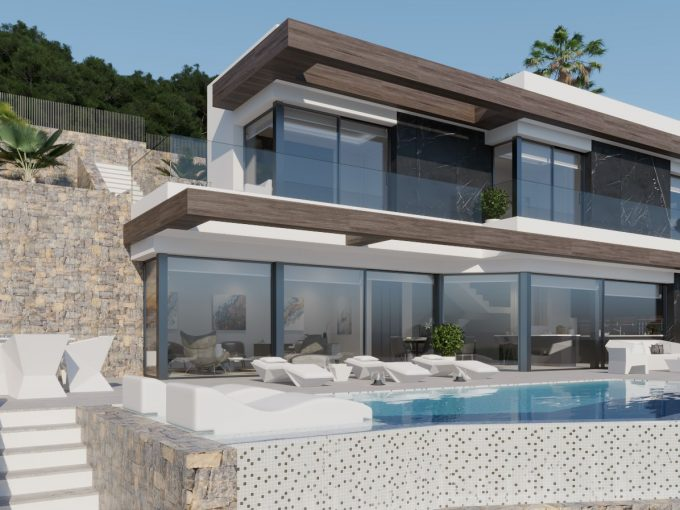 Luxury villa with panoramic sea views in Maryvilla