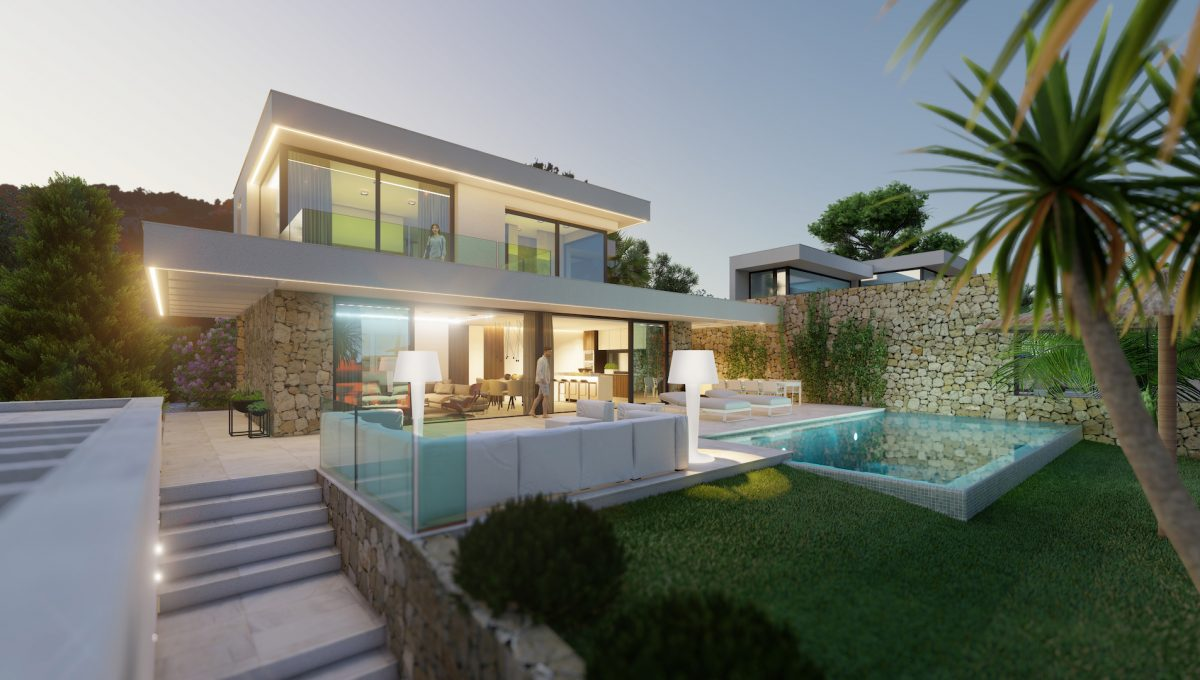 6 villas with sea views in Moraira