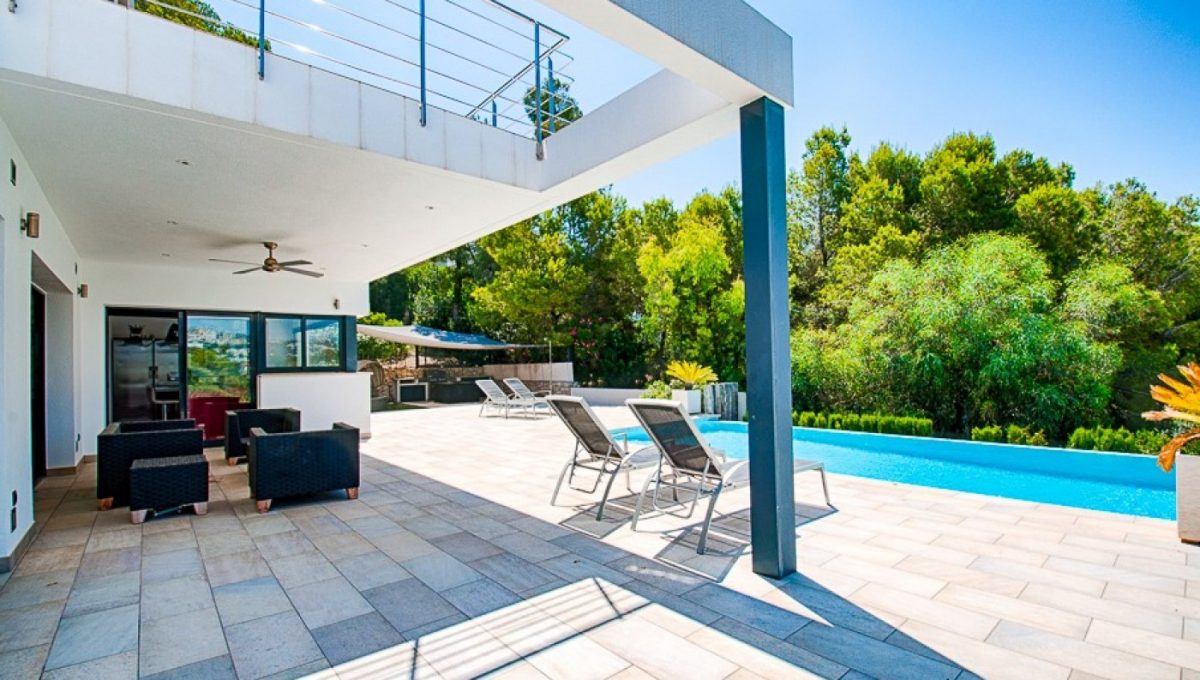 Modern sea view villa with 100% privacy in Moraira