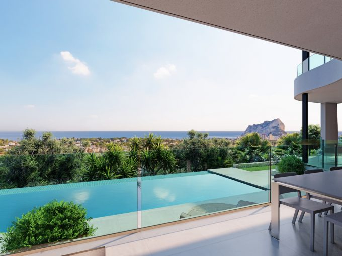 Newbuild villa with sea views in Gran Sol in Calpe